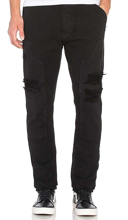10 Deep Reinforced Carpenter Pant in Black
