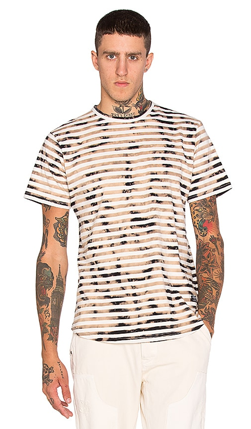 10 Deep Guernica Scoop Bottomed S/S Tee in Off White