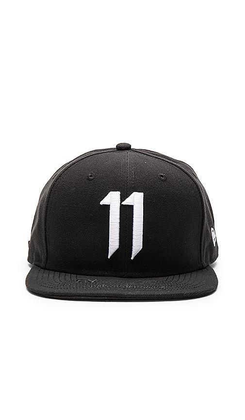11 by Boris Bidjan Saberi 11 Logo Cap in Black & White
