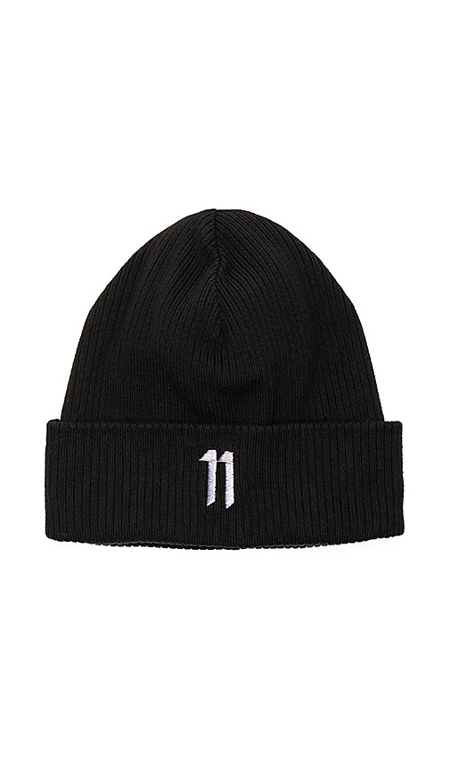 11 by Boris Bidjan Saberi Beanie in Black  54c3972ce97