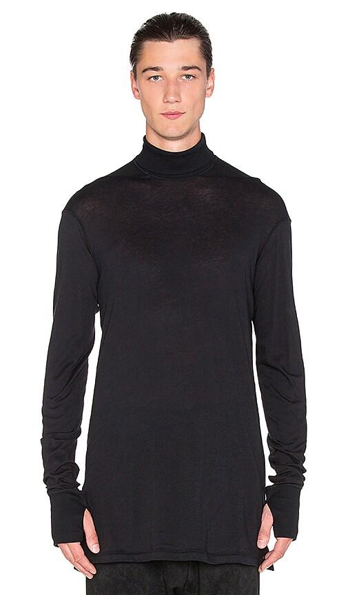11 by Boris Bidjan Saberi Piece Dyed Sweater in Black Dye
