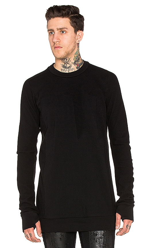 11 by Boris Bidjan Saberi Sweater in Black Dye