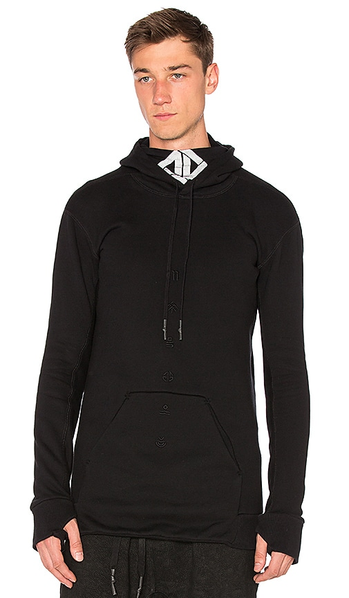 11 by Boris Bidjan Saberi Mask Hoodie in Black
