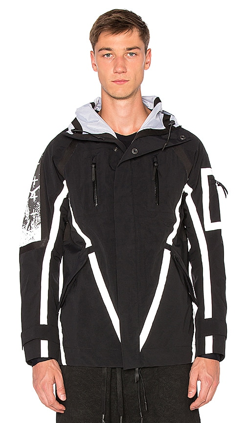 11 by Boris Bidjan Saberi Reflective Tape Jacket in Black