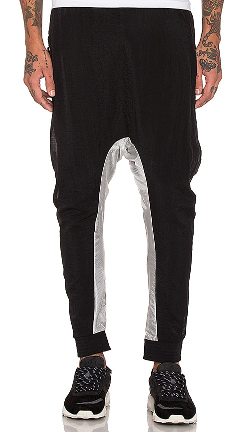 11 by Boris Bidjan Saberi Drop Crotch Pant in Black/Transparent