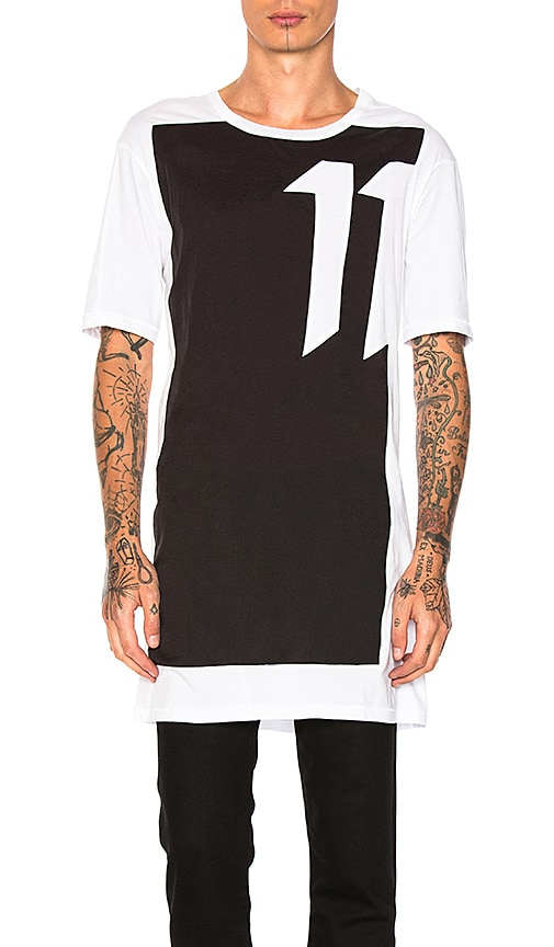 11 by Boris Bidjan Saberi Graphic Tee in White