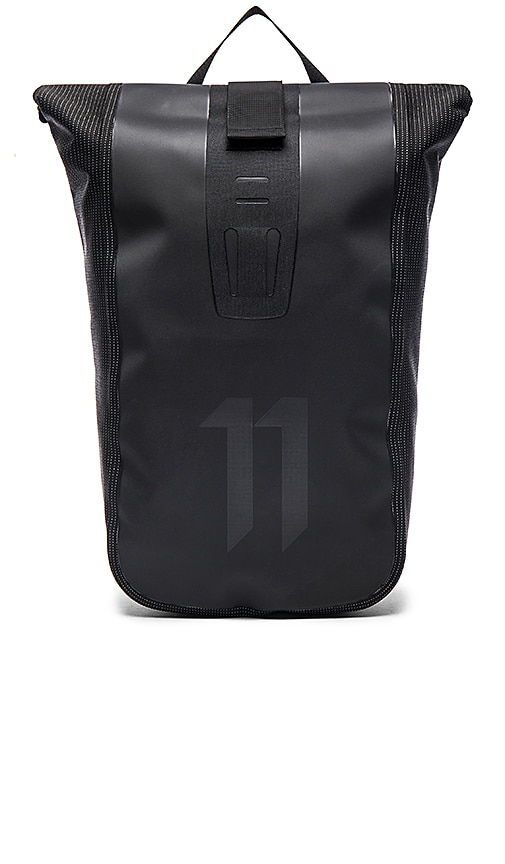 11 by Boris Bidjan Saberi Velocity Backpack in Black High Visibility
