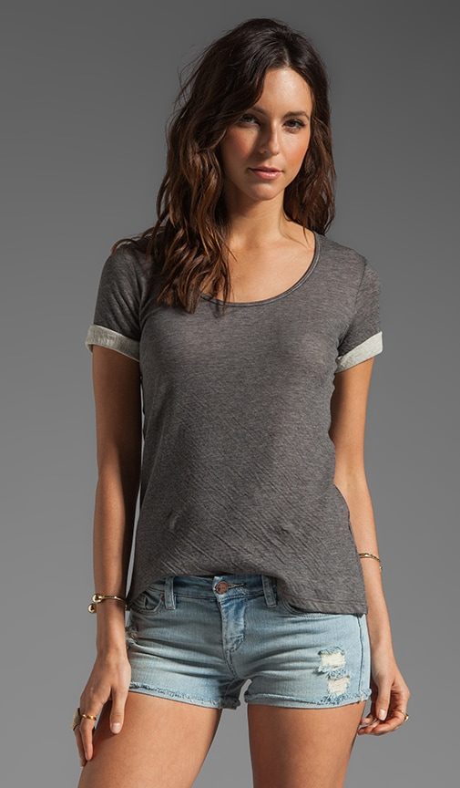 Relaxed Short Sleeve Scoop Tee