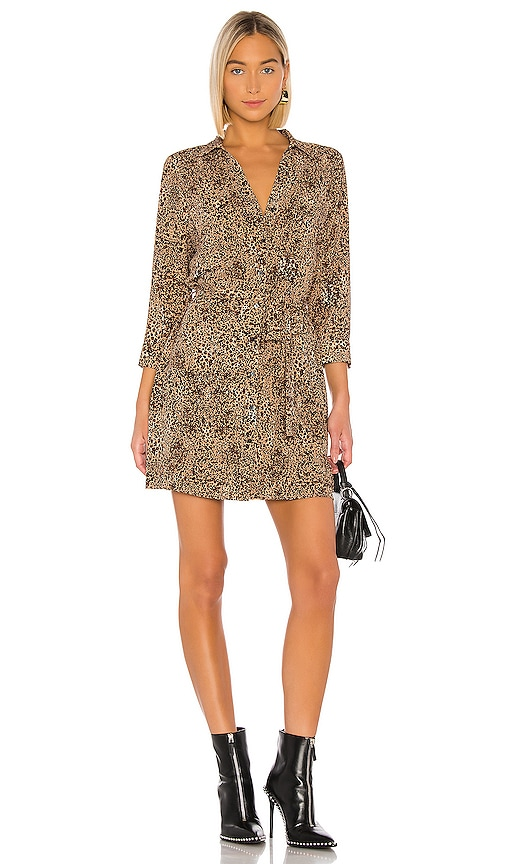 Leopard Muse Patch Pocket Shirt Dress
