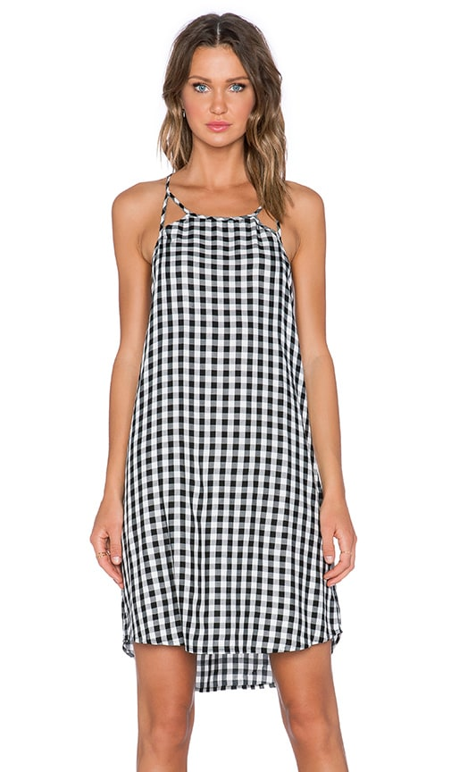 Gingham Cut Out Slip Dress