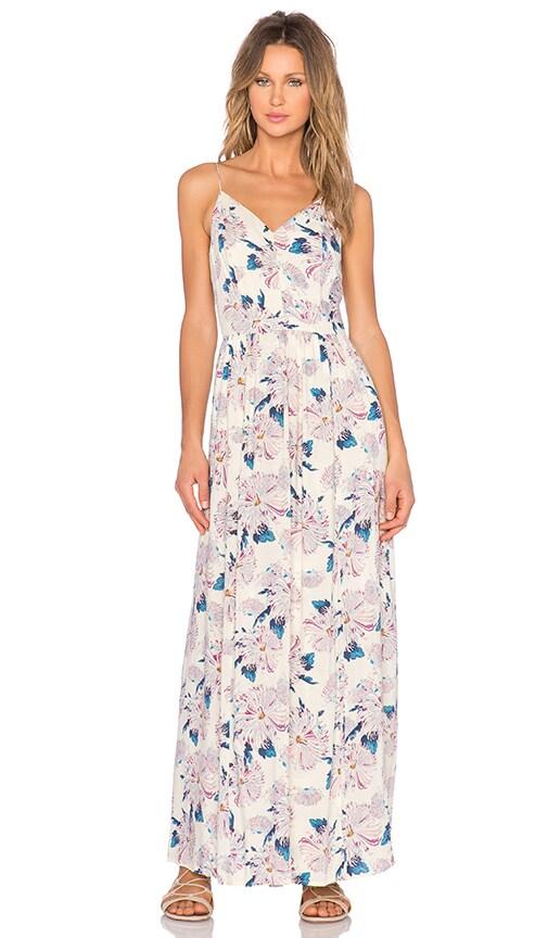 1. STATE Aster Garden V Neck Maxi Dress in Sugarcane