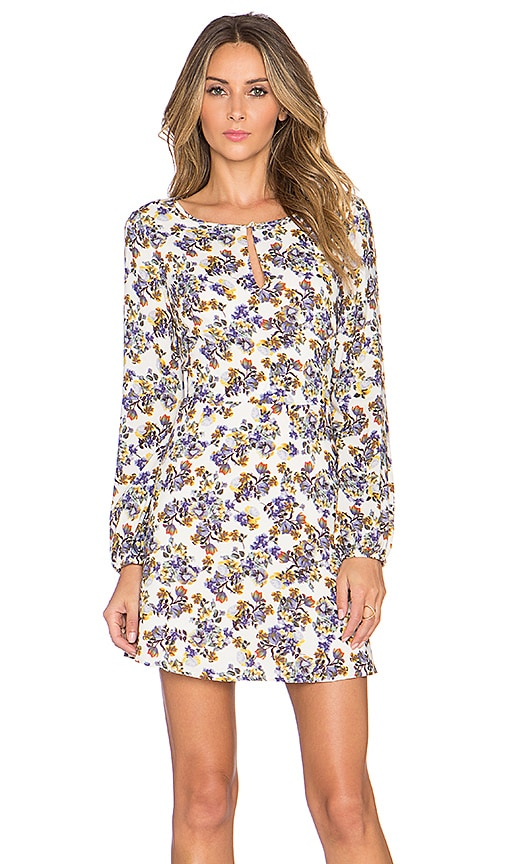 1. STATE Key Hole Long Sleeve Dress in Lilac Sugar