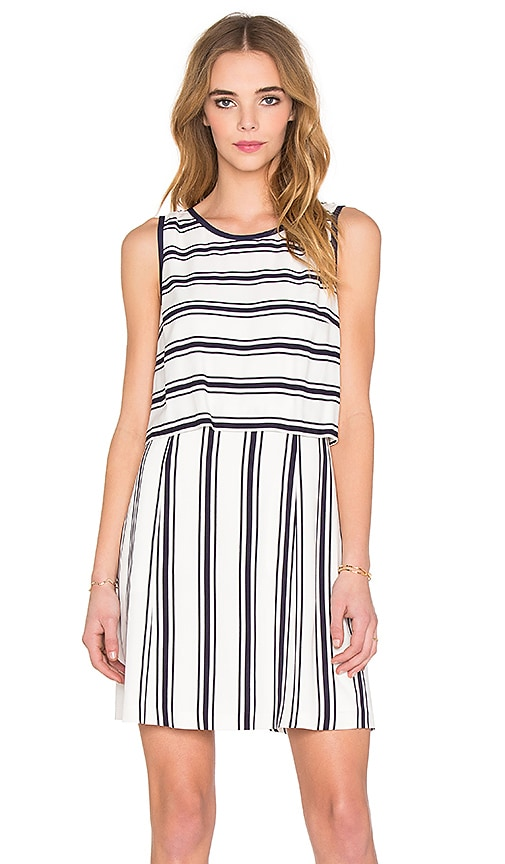 1. STATE Sleeveless Pop Over Dress in White
