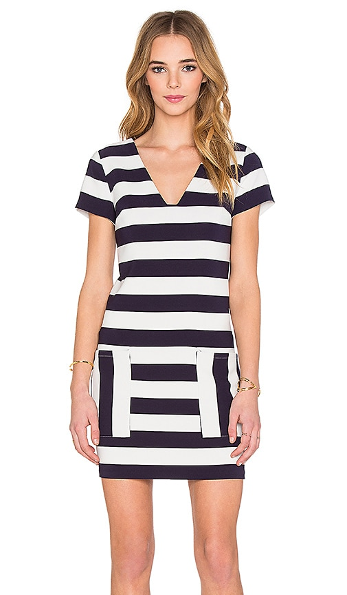 1. STATE Patch Pocket Shift Dress in Navy