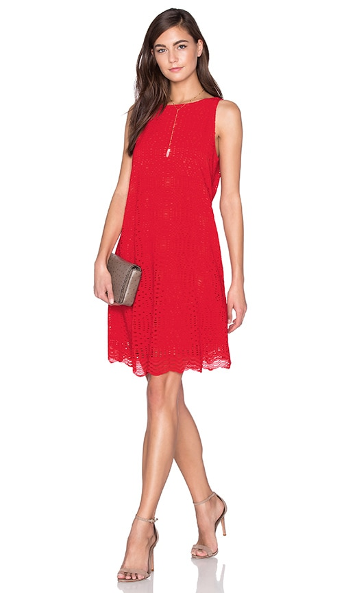 1. STATE Trapeze Dress in Red