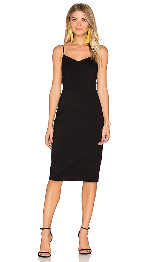 1. STATE Strappy Slip Dress in Black