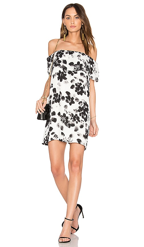 1. STATE Ruffle Mini Dress in Black & White