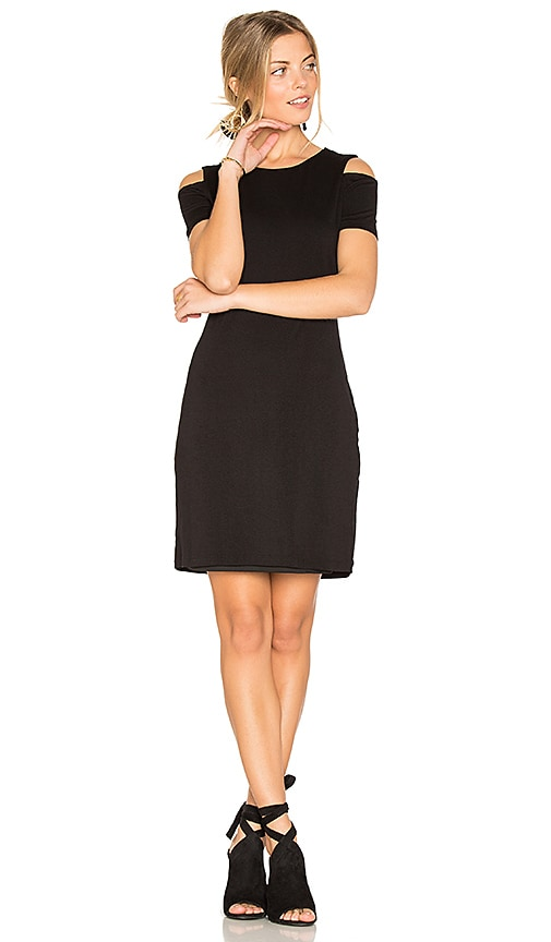 1. STATE Cold Shoulder Dress in Black