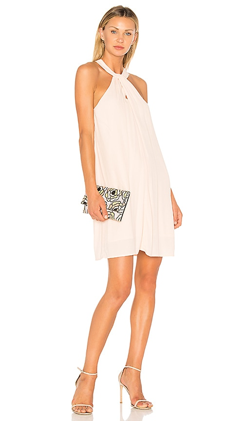 1. STATE Halter Neckline Shift Dress in Blush