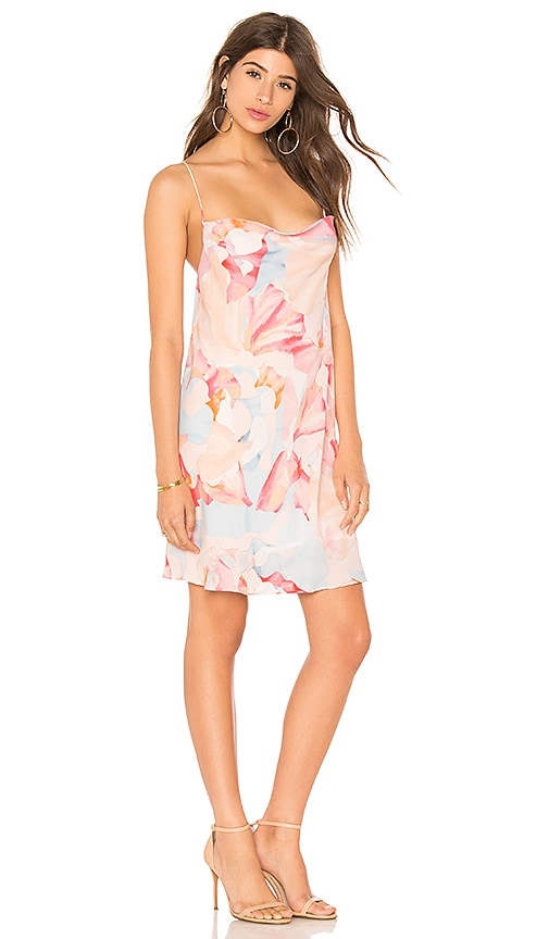 1. STATE Cowl Neck Slip Dress in Pink