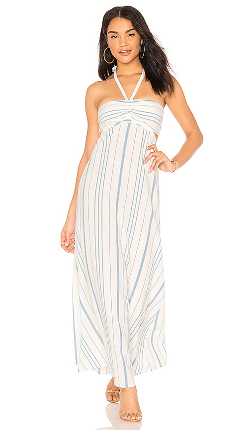 1. STATE Cinched Bodice Maxi Dress in White