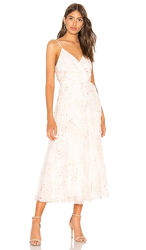 1. STATE Pleated Wrap Dress in Ivory