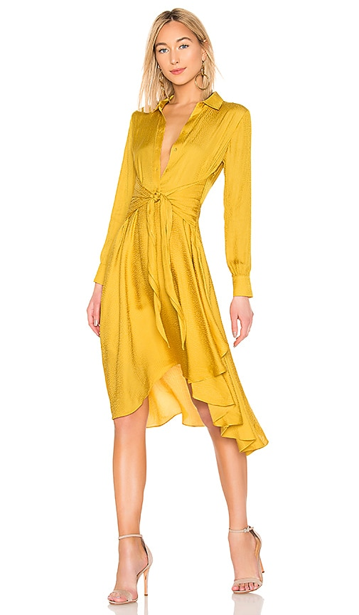 5b12f73e2543f 1. STATE Tie Front Shirt Dress in Butterfield | REVOLVE