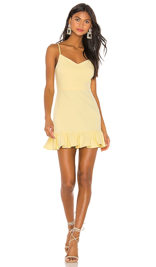 Spaghetti Strap Ruffle Hem Slip Dress