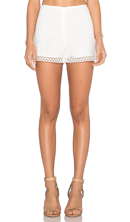 1. STATE Lace Overlay Short in White