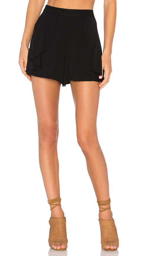 1. STATE Side Ruffle Short in Black