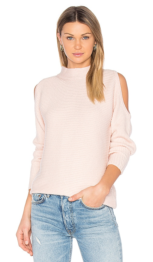 1. STATE Cold Shoulder Sweater in Pink