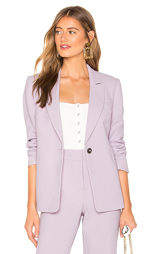 Textured Crepe One Button Blazer