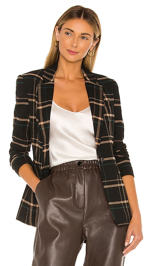 One Button Dynamite Plaid Blazer