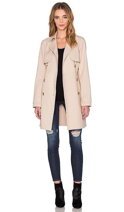 1. STATE Doubleweave Trench Coat in Beige
