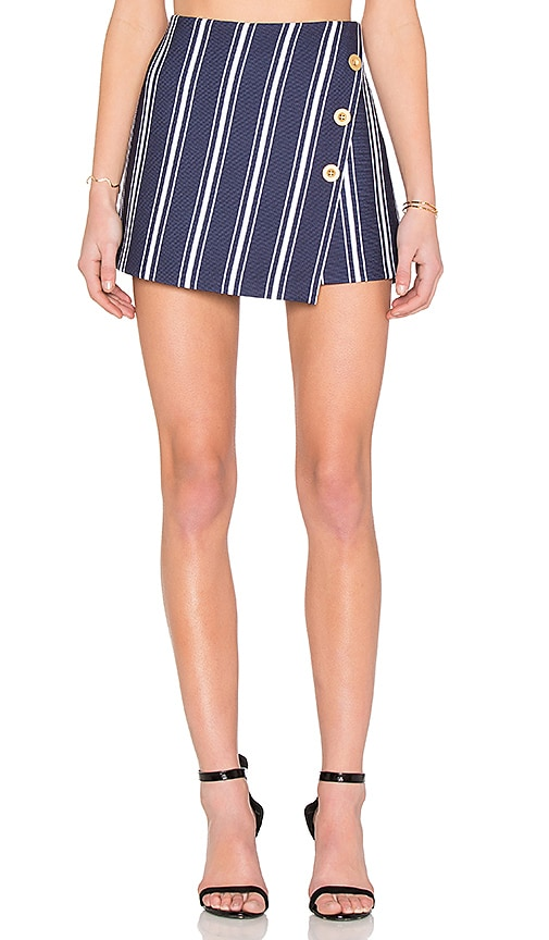 Button Cross Front A Line Skort
