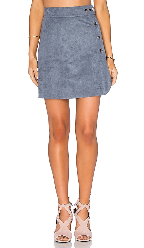 1. STATE Side Button A-Line Skirt in Grey