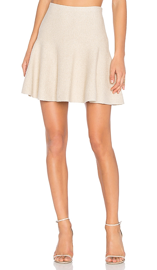 1. STATE Flounce Mini Skirt in Beige