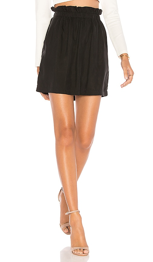 1. STATE Paperbag Mini Skirt in Black