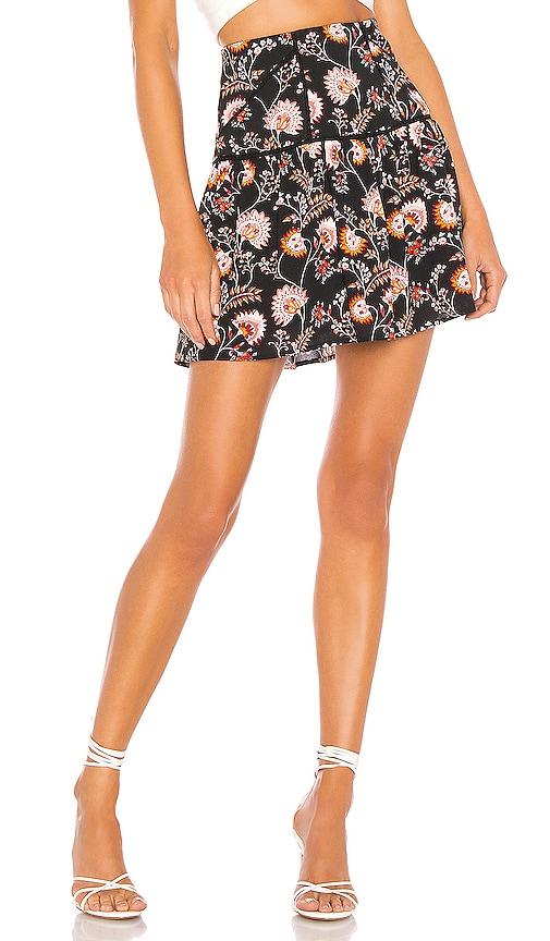 Flounce Hem Petal Leaf Garden Skirt