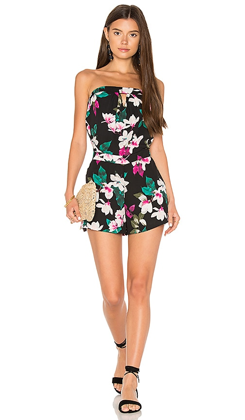 1. STATE Strapless Romper With Keyhole in Black