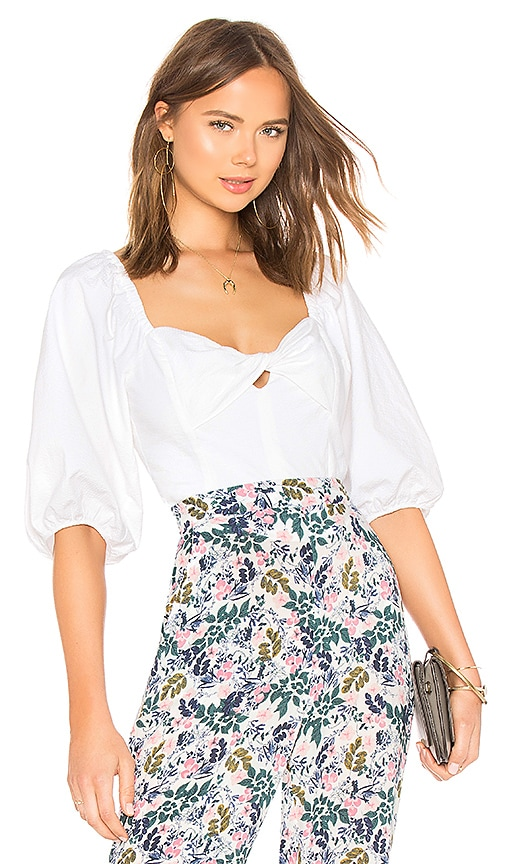 3270240adf4d24 1. STATE Puff Sleeve Crop Top in Ultra White