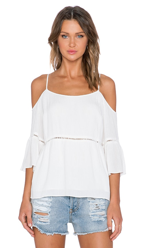 1. STATE Peasant Top in White