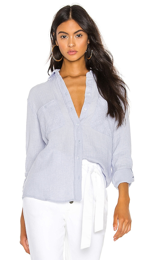 Patch Pocket Roll Tab Button Down