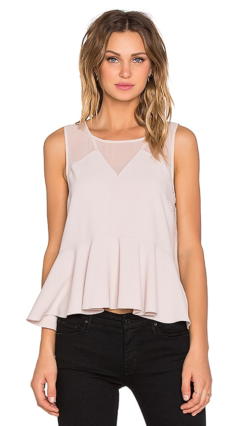 1. STATE V-Neck Peplum Top in Champagne