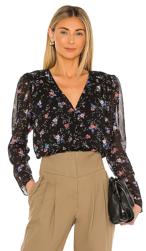 1.state TRANQUIL DITSY GARDEN BLOUSE
