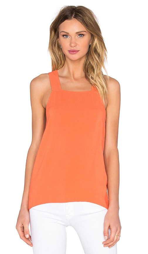 1. STATE Cross Back Tank in Coral
