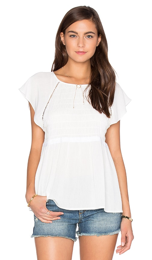 1. STATE Peplum Blouse in White