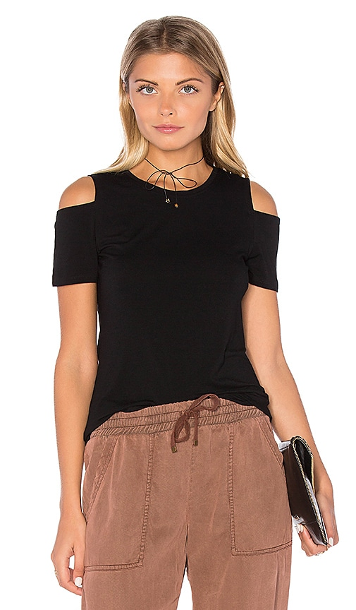 1. STATE Cold Shoulder Top in Black