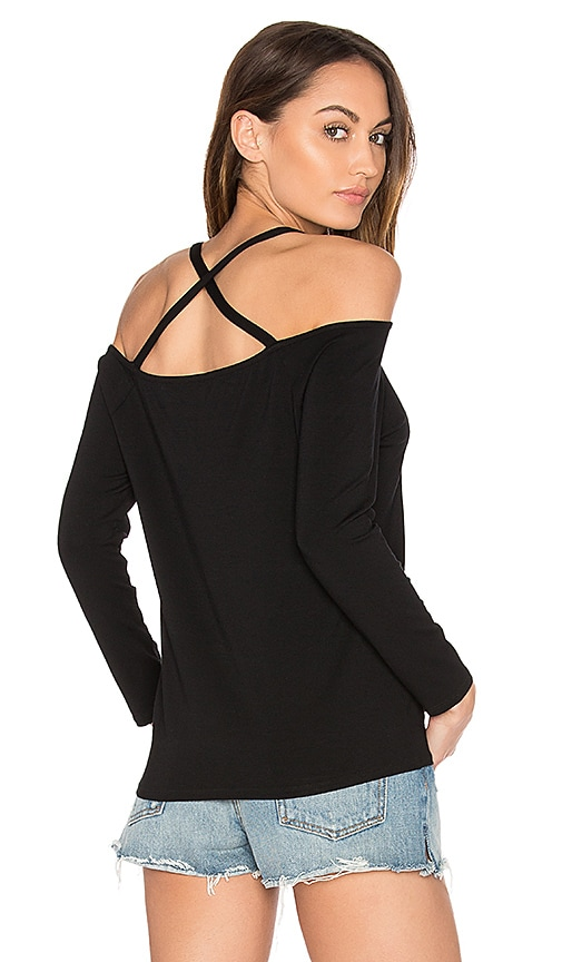 1. STATE Cross Back Top in Black