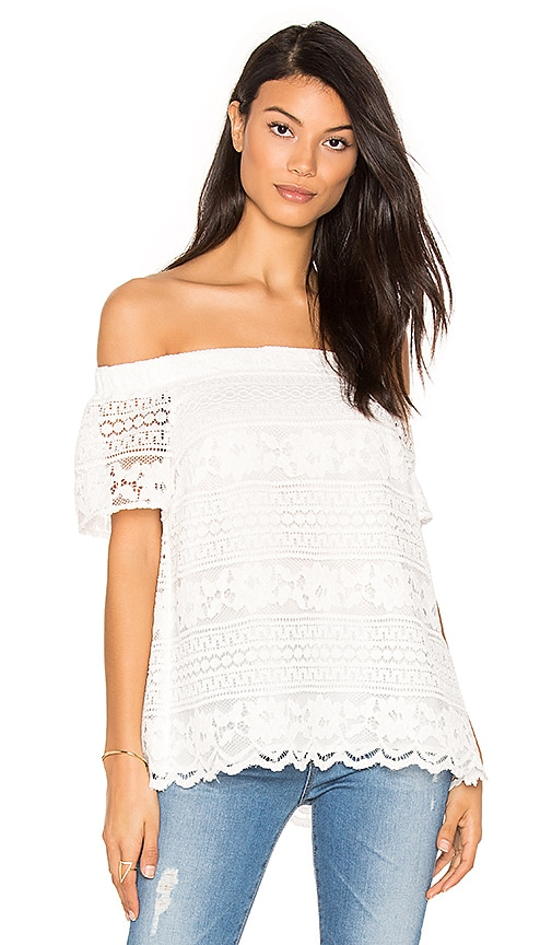 1. STATE Off Shoulder Blouse in White